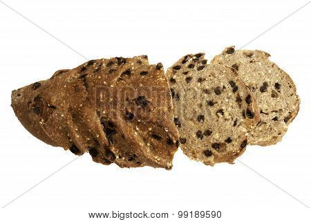 Healthy rye bread with raisin