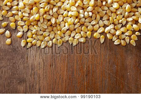 maize corn on the wooden table
