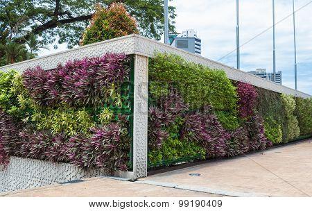Vertical Garden In The Center Of Kuala Lumpur