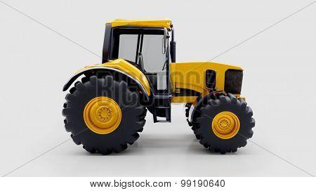 Farm tractor in light studio