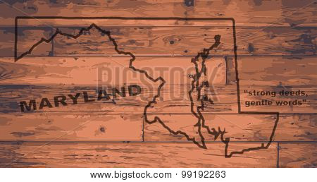 Maryland Map Brand