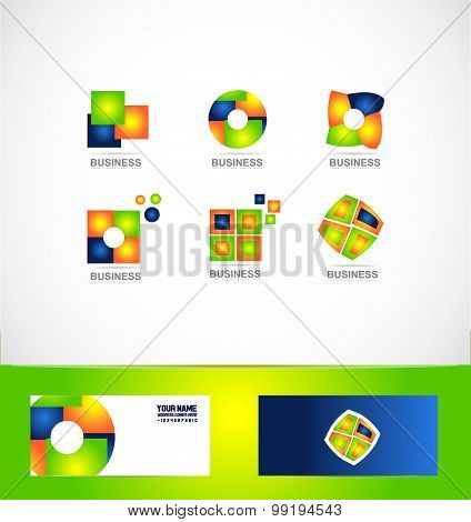 Business Company Logo Set Icon