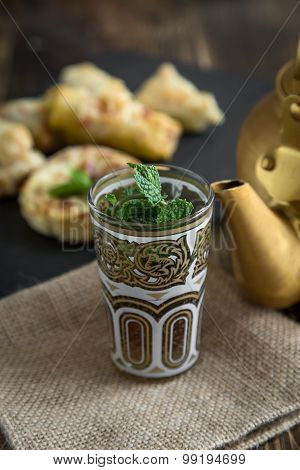 Typical Moroccan And Arabic Tea