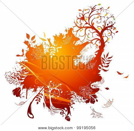 Bright Autumn Illustration.