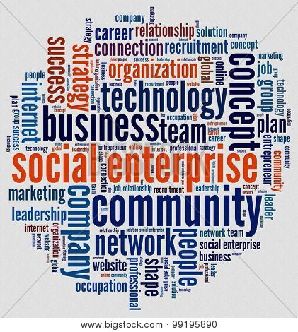 Social Enterprise in word collage