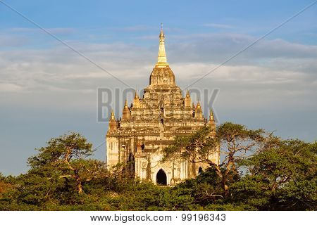 Scenic Detail View Of Beautiful Ancient Temple In Bagan