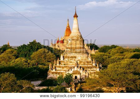 Detail Landscape View Of Pagodas And Temples In Bagan