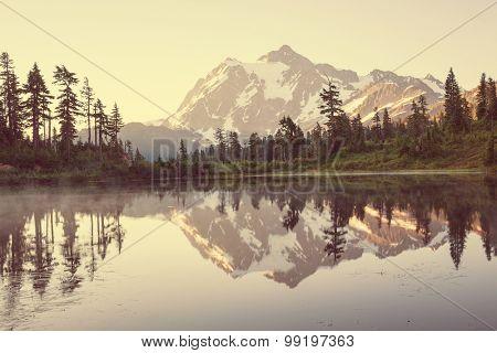 Mount Shuksan and Picture lake ,Washington