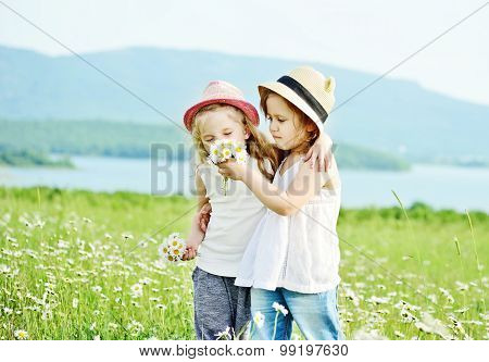 Two Girls In Fild