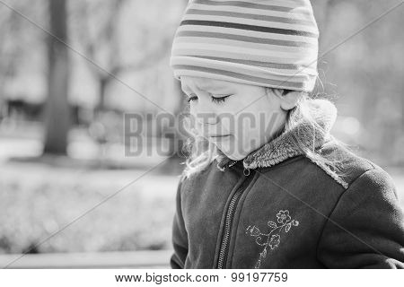 Child Crying Outdooors