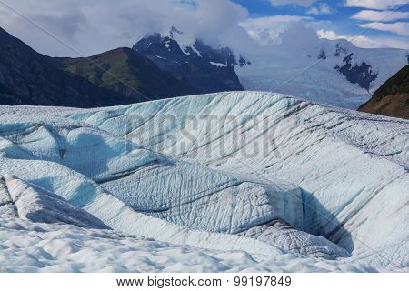 Lake on Kennicott glacier,Wrangell-St. Elias National Park, Alaska