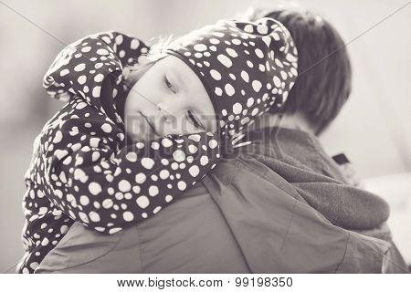 Daughter On Father Shoulder