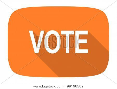 vote flat design modern icon with long shadow for web and mobile app