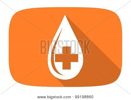 blood flat design modern icon with long shadow for web and mobile app
