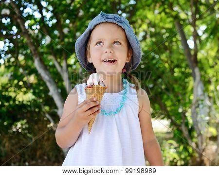 Child With  Ice Cream Cone