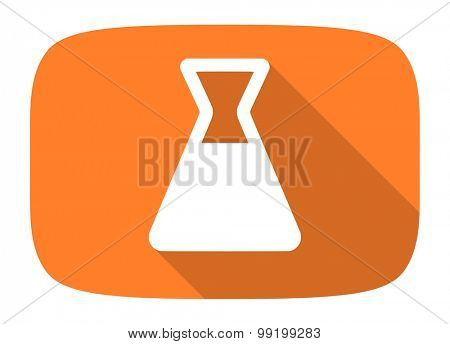 laboratory flat design modern icon with long shadow for web and mobile app