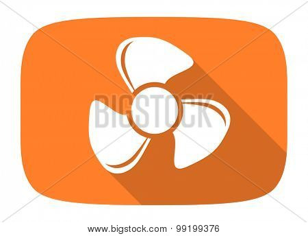 fan flat design modern icon with long shadow for web and mobile app