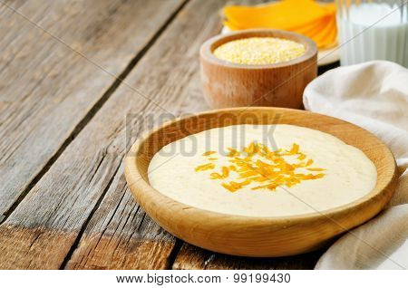 Polenta With Cheddar Cheese