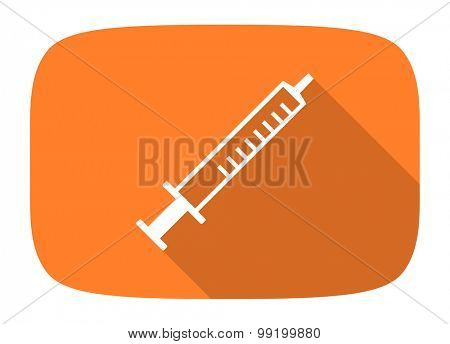 medicine flat design modern icon with long shadow for web and mobile app