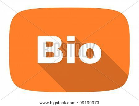 bio flat design modern icon with long shadow for web and mobile app