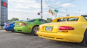 Постер, плакат: Dodge Vipers Woodward Dream Cruise MI