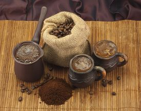 image of coffee grounds  - coffee images - JPG