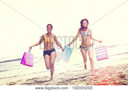 Women Bikini Shopping Bags Beach Summer Concept