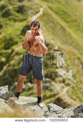 Shadow Boxing On Mountain