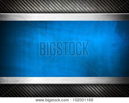 blue metal template