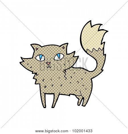 comic book style cartoon cat