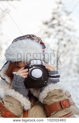 Knitted Winter Photo Concept