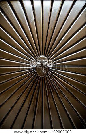 Metal Door Shaped Sunburst.