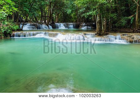 Forest Waterfall In National Park