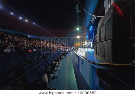 Concert hall with people during contest Hip Hop International - Cup Of Russia