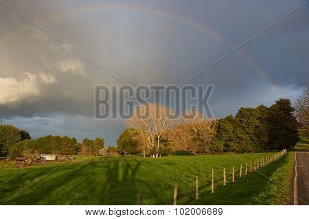 Rainbow in Rural Chile