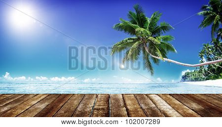 Tropical Paradise Beach Summer Vacation Holiday Concept