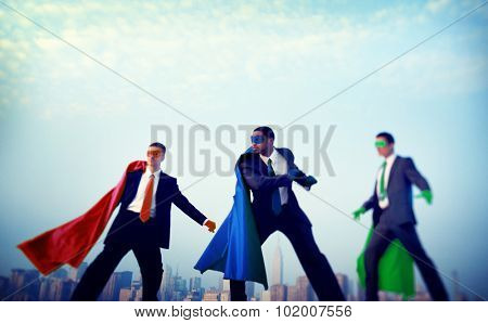 Superhero Businessmen Power Confidence Concept