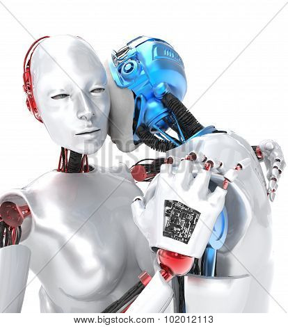 two robots in love