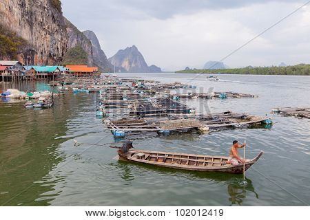Khopanyee Island - September 14, 2015 : Khopanyee Island Fisherman Village Settlement
