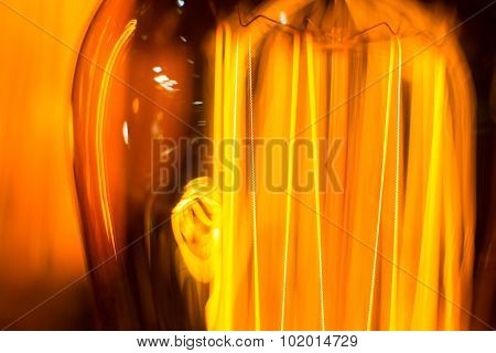 Light-emitting Filament Cob Lamp Threads Macro