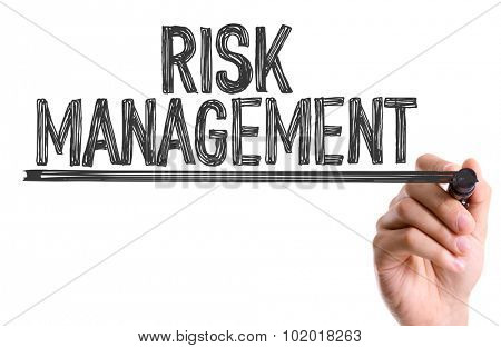 Hand with marker writing: Risk Management