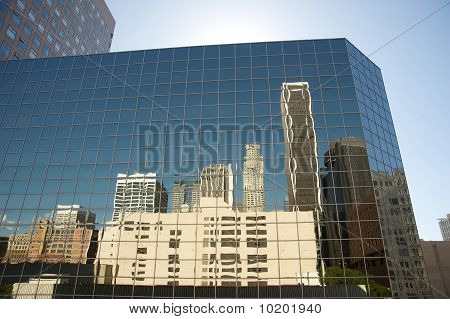 Buildings reflecting on building