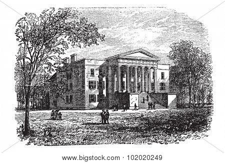 College of Arts, University of Kentucky, Lexington, vintage engraved illustration. Trousset encyclopedia (1886 - 1891).