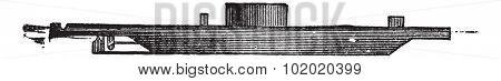 USS Monitor, vintage engraved illustration. Trousset encyclopedia (1886 - 1891).