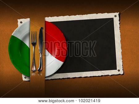 Restaurant Italy Menu With Photo Frame