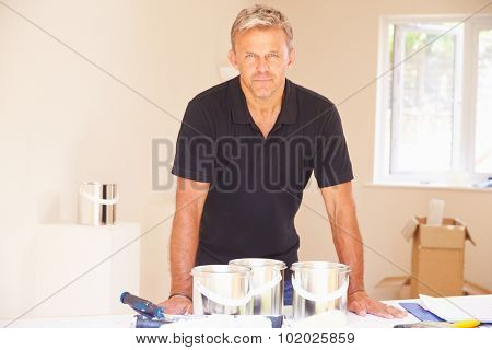 Middle aged male interior decorator, portrait