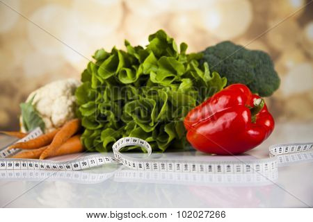 Healthy lifestyle concept, vitamins composition