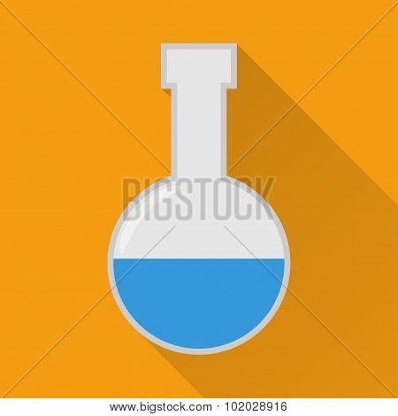 Laboratory flask flat icon.