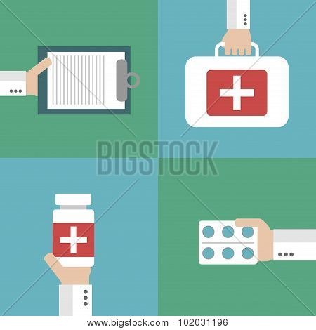 Healthcare vector, flat design style.