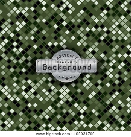 Camouflage military pattern square background. Vector illustration, EPS10